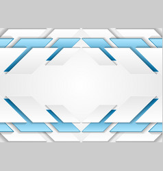 Abstract corporate tech grey and blue background vector