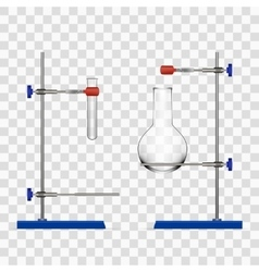 Chemistry Lab Flask And Tubes Grip Stand Holder vector image vector image