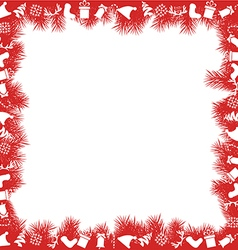 Christmas Frame with Toys vector image vector image