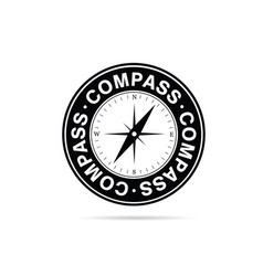 compass in black and white color vector image vector image