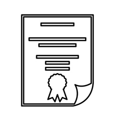 Diploma document isolated icon vector
