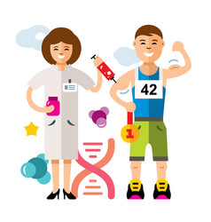 Doping and sport concept flat style vector