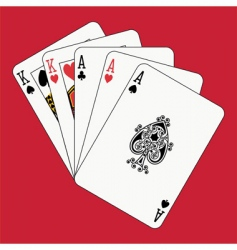 full house aces and kings vector image vector image
