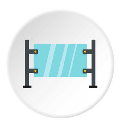 Glass gate icon circle vector