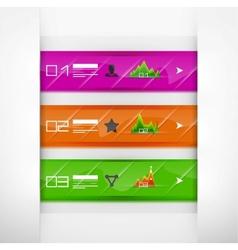 Glass infographics banners vector image