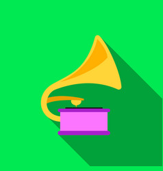 Gramophone icon of for web and vector