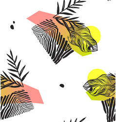 hand made abstract summer exotic jungle plant vector image