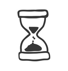 Hourglass sand time vector
