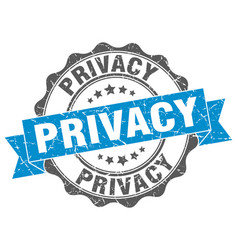 Privacy stamp sign seal vector