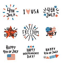 set of fourth july badges vector image vector image
