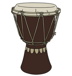Small ethno drum vector