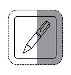 Whitte emblem ballpoint icon vector