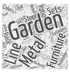 Why metal garden furniture word cloud concept vector