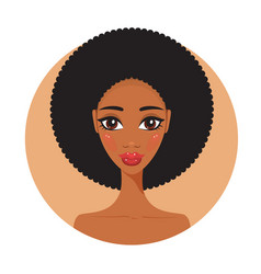 young african american woman fresh and happy vector image vector image