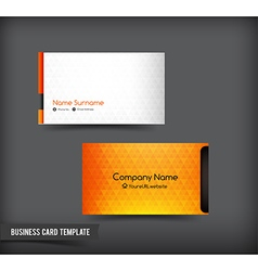 Business card template set 61 vector