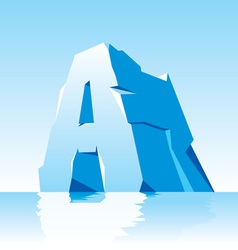 Ice letter a vector