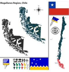 Map of Magallanes vector image