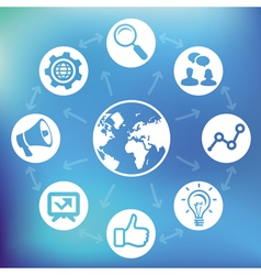 internet marketing vector image
