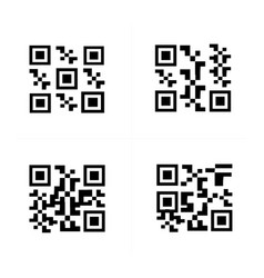 Barcode and qr code vector