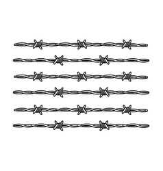 barbed wire for detaining criminals in prison a vector image