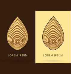 Abstract wood in lotus shape vector