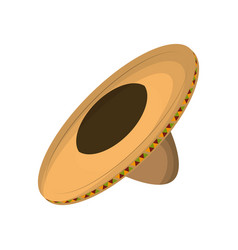Mexican hat isolated icon vector
