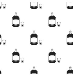 absinthe icon in black style isolated on white vector image