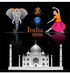 India travel set vector