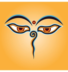 Buddha eyes vector