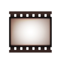 Blank realistic vintage retro old film strip vector