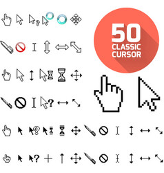 Classic cursor pack vector image
