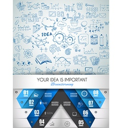 Idea concept layout for brainstorming and vector