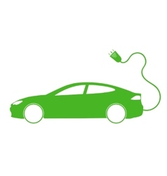 Electro car green icon vector
