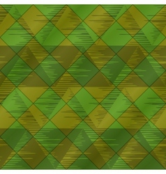 Abstract seamless plaid green vector