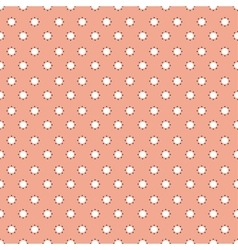 Pattern with dots seamless orange background vector