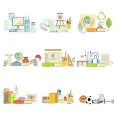 Different school classes and sciences related vector