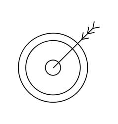 Arrow target line icon vector