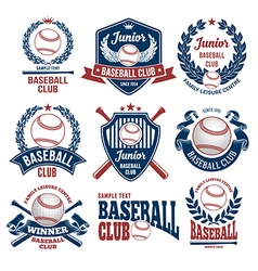 Baseball logo set vector