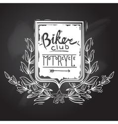 Biker Club Emblem vector image vector image