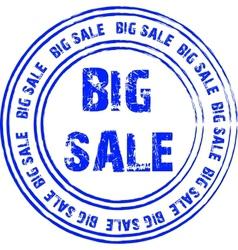 Blue stamp for big sale vector image