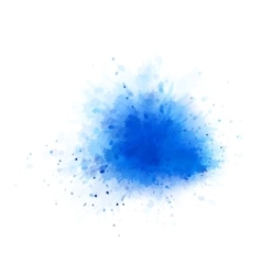 Blue water splash vector
