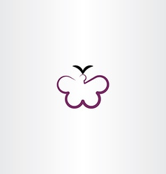 butterfly clipart icon vector image vector image