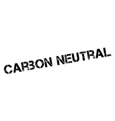 Carbon neutral rubber stamp vector