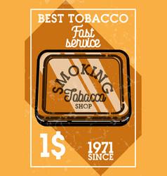 color vintage tobacco shop banner vector image vector image