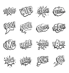 comic colored sound icons set simple style vector image