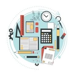 Distance education online courses brainstorm vector image vector image