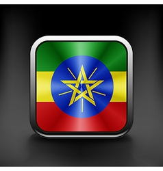 Ethiopia icon flag national travel icon country vector image vector image