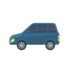 Family city car isolated icon vector