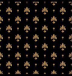 fleur de lis pattern silhouette - heraldic symbol vector image