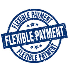 Flexible payment blue round grunge stamp vector
